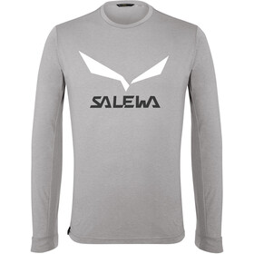 SALEWA Solidlogo Dry Longsleeve T-Shirt Heren, heather grey